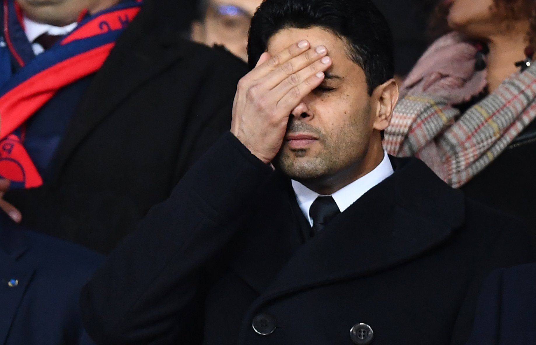 أول رد فعل من ناصر الخليفي على الخروج من دوري أبطال اوروبا