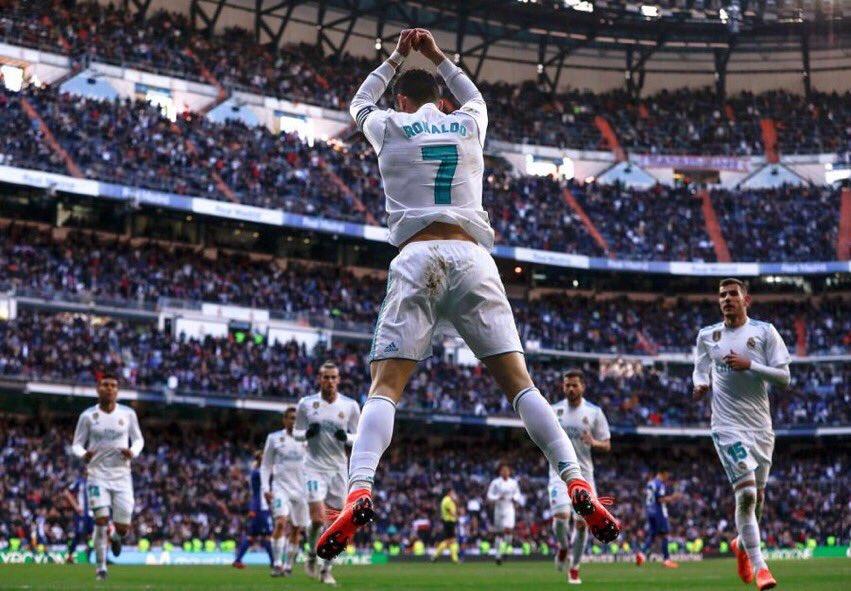 رونالدو يقود ريال مدريد للفوز على خيتافي بثلاثية