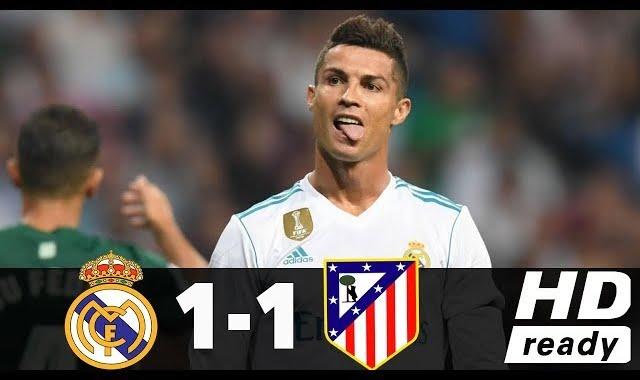 اهداف مباراة ريال مدريد واتلتيكو مدريد 1-1 الدوري الاسباني 08-04-2018