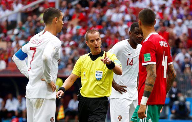 حقيقة اعادة مباراة المغرب والبرتغال بسبب رونالدو وحكم المباراة