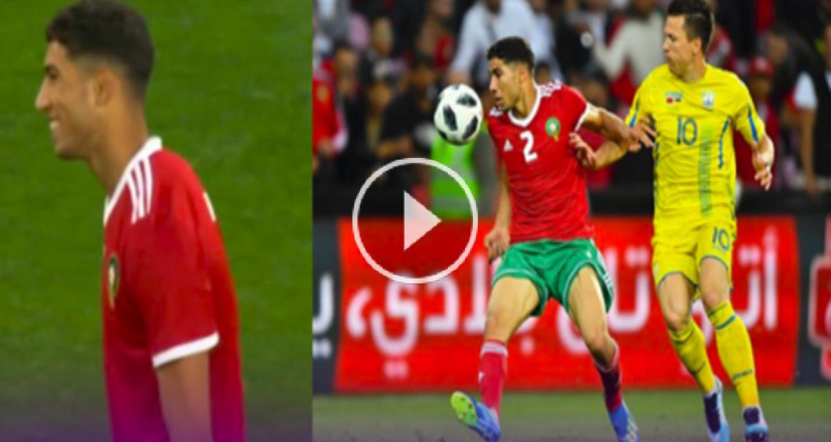 فيديو: السرعة الفائقة لـ أشرف حكيمي ضد أوكرانيا