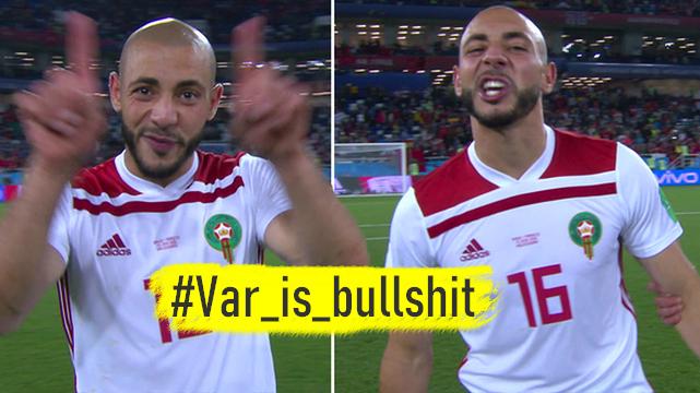 هاشتاغ #Var_is_bullshit يغزو مواقع التواصل تضامنا مع المغرب واحتجاجا على الفيفا