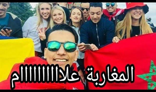شاهد أول شيء فعله المغاربة بعد الوصول إلى روسيا