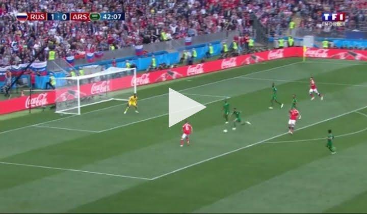 فيديو: هدف روسيا الثانس في مرمى المنتخب السعودي