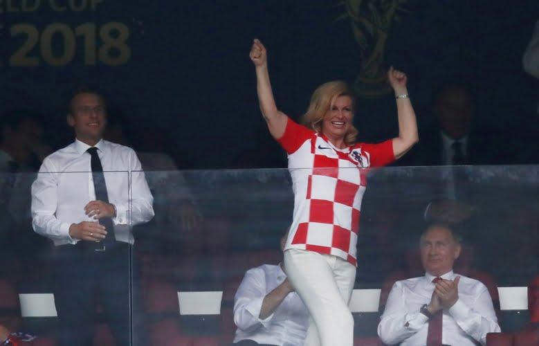 صور.. ردود أفعال رئيسي كرواتيا وفرنسا خلال متابعة نهائي مونديال روسيا