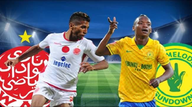 طاقم تحكيم جزائري لقيادة مباراة الوداد وصن داونز الجنوب افريقي