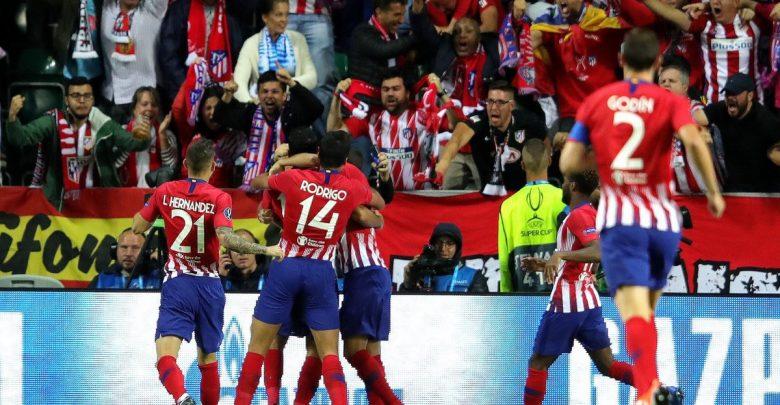 أتليتكو مدريد يُسقط ريال مدريد و يتوج بالسوبر الأوروبي