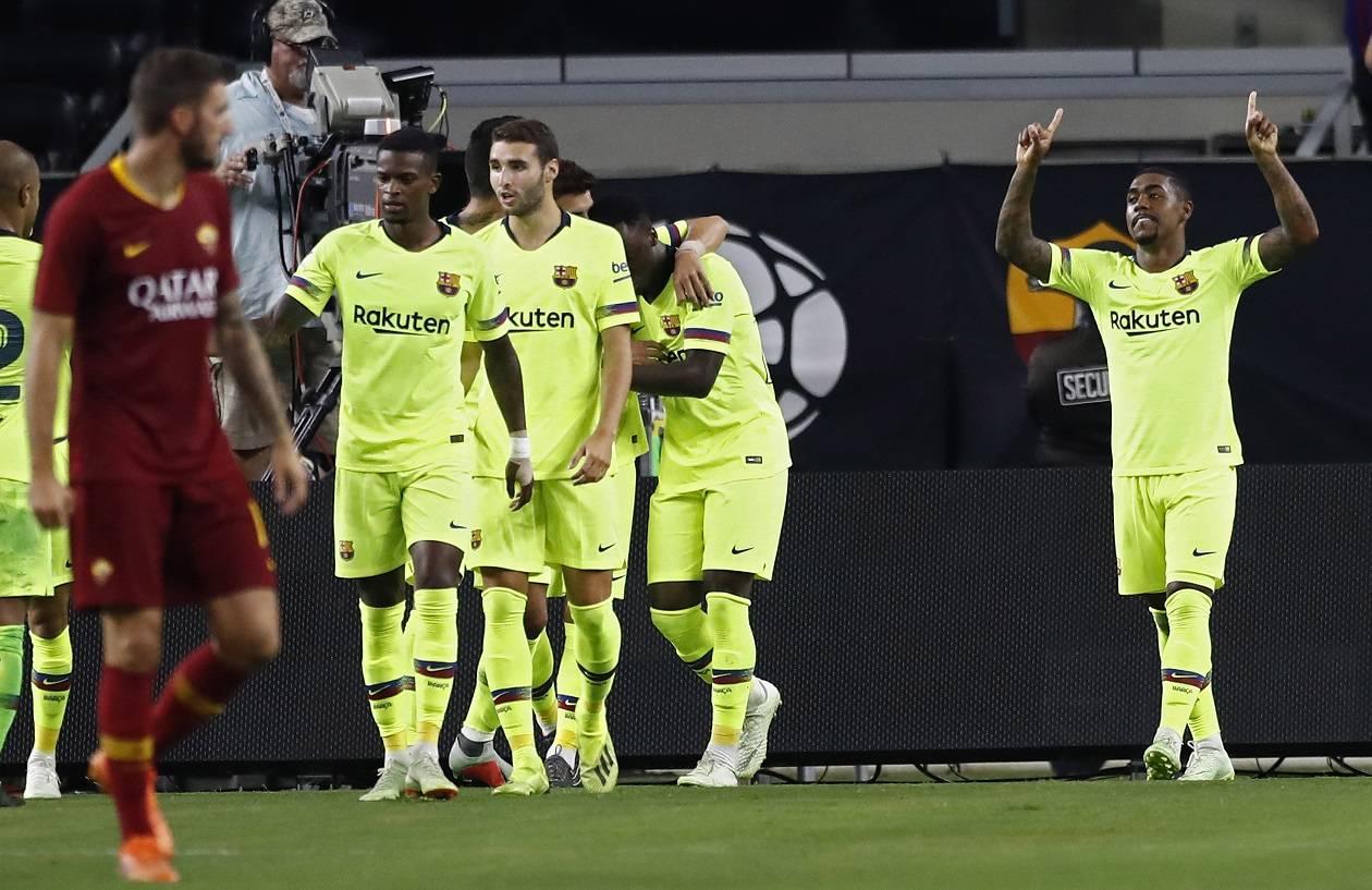 روما يستغل لقاء برشلونة للسخرية من مالكوم والبرازيلي يردّ