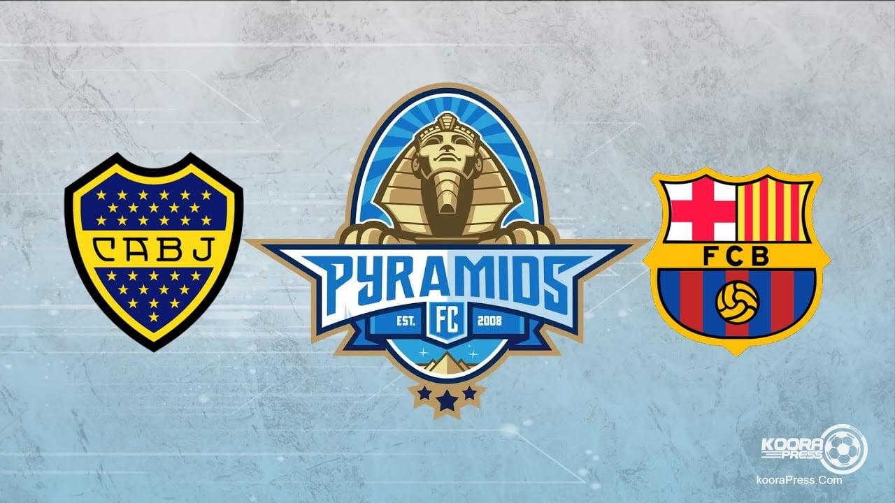 تردد قناة بيراميدز الرياضية Pyramids الاهرام سبورت الناقلة لمباراة برشلونة وبوكا جونيور الأرجنتينى