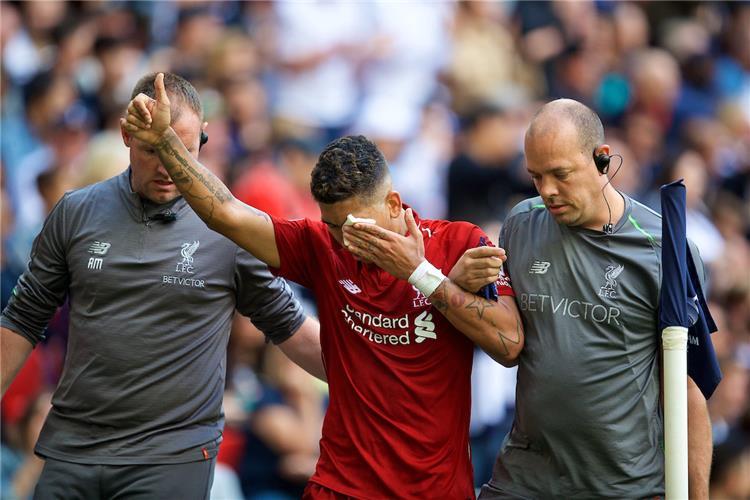 قلق في ليفربول بعد اصابة فيرمينو