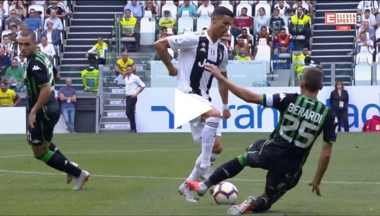 رونالدو يتلاعب بـ 3 لاعبين من ساسولو بشكل مُهيـن على طريقة زيـدان