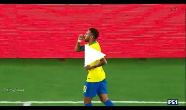 هدف نيمار الثاني للبرازيل في مرمى أمريكا