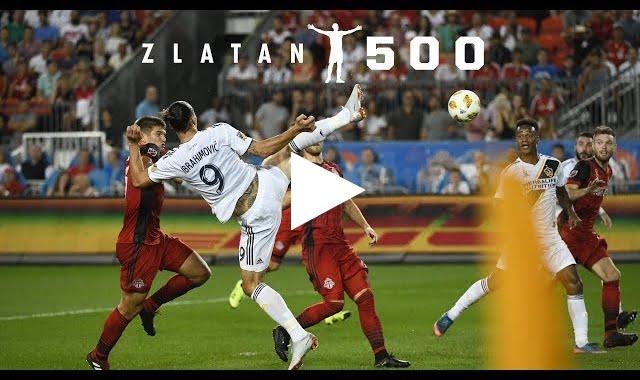 ابراهيموفيتش يصنع التاريخ ويسجل الهدف الـ500 بطريقة أسطورية.. فيديو