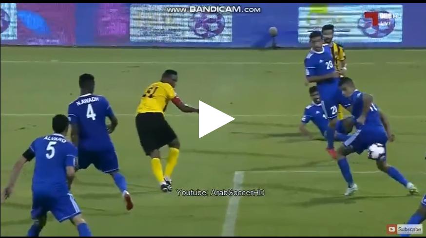 صامويل إيتو يسجل هدف عالمي في الدوري القطري