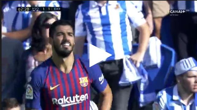 هدف تعادل برشلونة أمام ريال سوسيداد