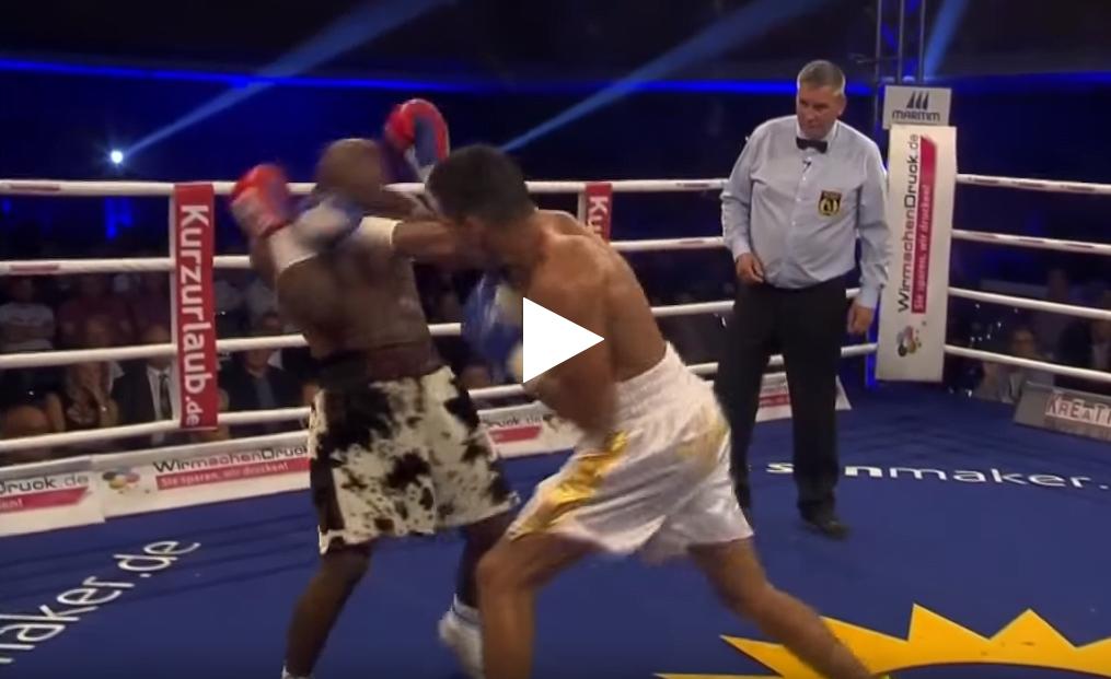 محمد ربيعي يفوز في سادس مواجهة في الملاكمة الاحترافية
