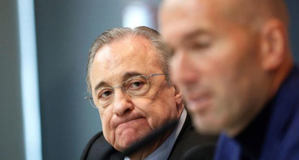 تصريحات زيدان تثير غضب رئيس ريال مدريد