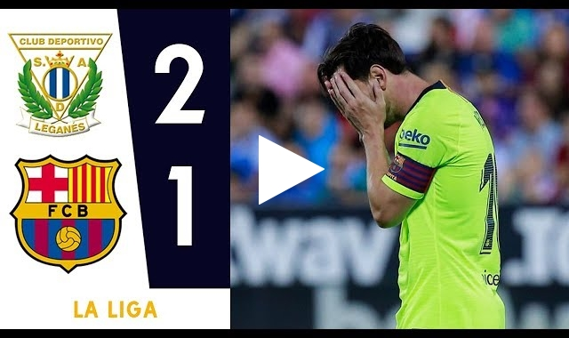 ملخص وأهداف مباراة برشلونة وليجانيس 1-2 الدوري الإسباني