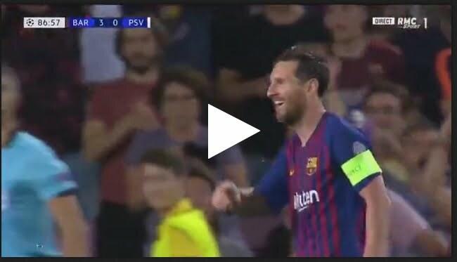 هدف برشلونة الرابع في مرمى بي إس في إيندهوفن