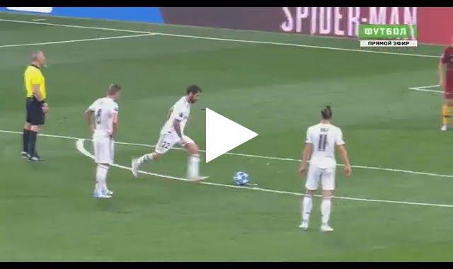 ايسكو يسجل هدف رائع اول لريال مدريد في مرمى روما