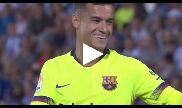 هدف برشلونة الأول في مرمى لغانيس