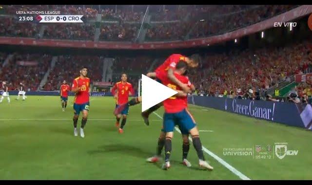 هدف إسبانيا الأول في مرمى كرواتيا