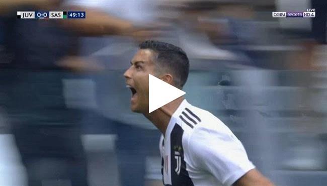 رونالدو يسجل هدفه الأول بالدوري الإيطالي في مرمى ساسوولو