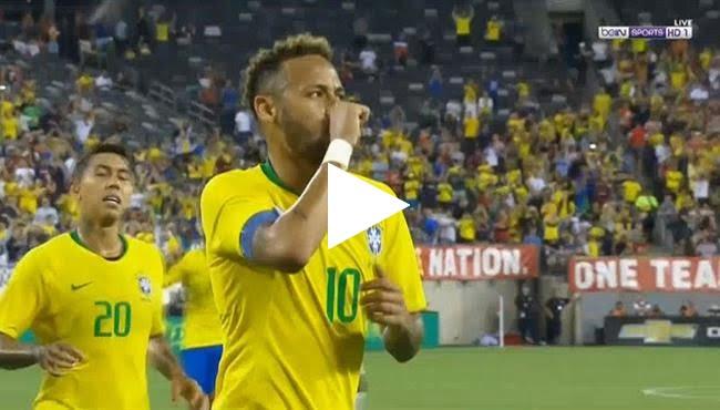 أهداف مباراة البرازيل وأمريكا 2-0 مباراة ودية