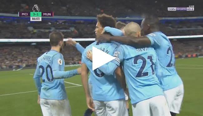 أهداف مباراة مانشستر يونايتد ومانشستر سيتي 1-3 الدوري الإنجليزي