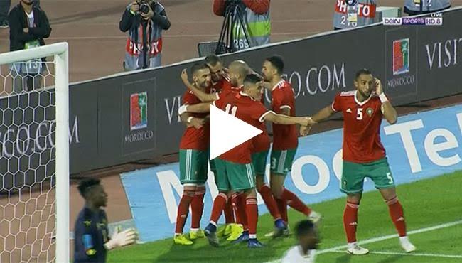 فيديو: أهداف مباراة المغرب والكاميرون 2-0 تصفيات كأس أمم افريقيا 2019
