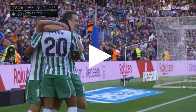 أهداف مباراة برشلونة وريال بيتيس 3-4 الدوري الإسباني