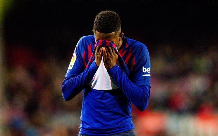 برشلونة يعلن في بيان رسمي التشخيص النهائي لاصابة ديمبلي ومدة غيابه