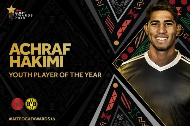 أشرف حكيمي أفضل لاعب صاعد في أفريقيا