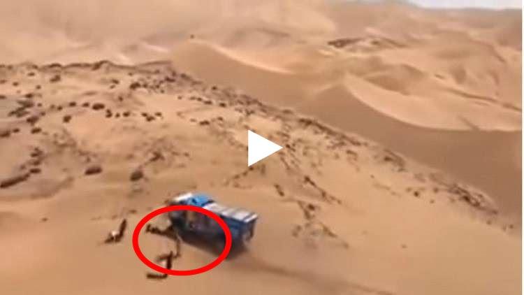 سائق روسي يدهس بالخطأ متفرجا في رالي داكار
