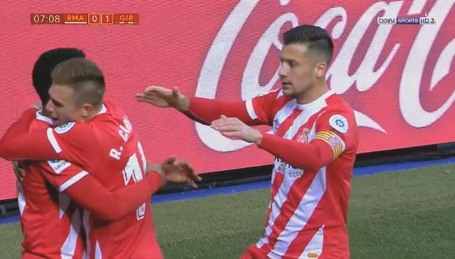 هدف جيرونا الأول ضد ريال مدريد