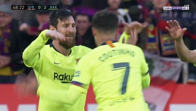 اهداف مباراة برشلونة وجيرونا (2-0) الدوري الاسباني