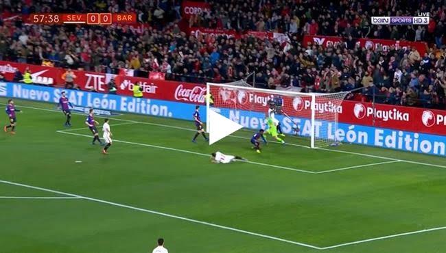 اهداف مباراة برشلونة واشبيلية (0-2) كأس ملك اسبانيا