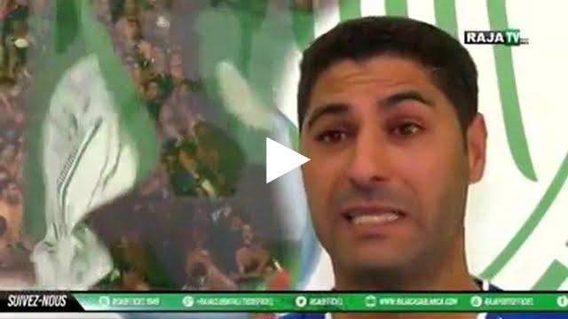 فيديو: بالدموع .. يوسف السفري يخاطب جماهير الرجاء