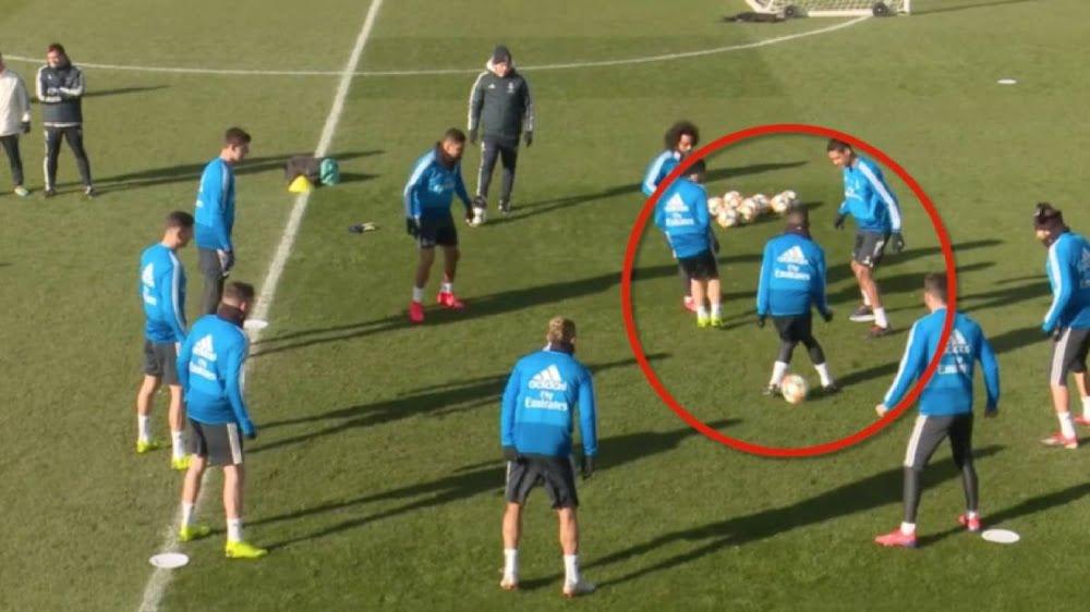 لقطة طريفة ين فينسيوس جنيورز ومارسيلو في تداريب ريال مدريد