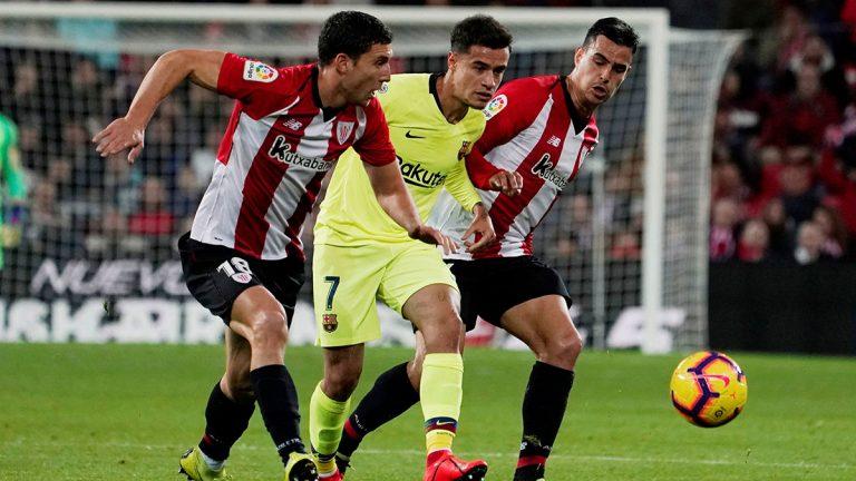 نادي برشلونة يدافع عن كوتينيو بعد مستواه المتواضع ضد أتلتيك بلباو