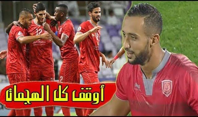 المهدي بنعطية يبدع في أول مباراة له في الدوري القطري وكاد يسجل هدفين والعربي يسجل هدف الفوز