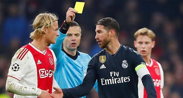 """رسميا.. """"ويفا"""" يصدم راموس لتعمده نيل بطاقة صفراء ضد أياكس"""