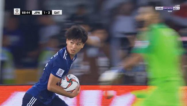 هدف اليابان الاول في مرمي قطر (1-2) تعليق رؤوف خليف