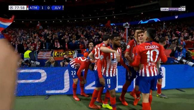 اهداف مباراة اتلتيكو مدريد ضد يوفنتوس (2-0) دوري ابطال اوروبا