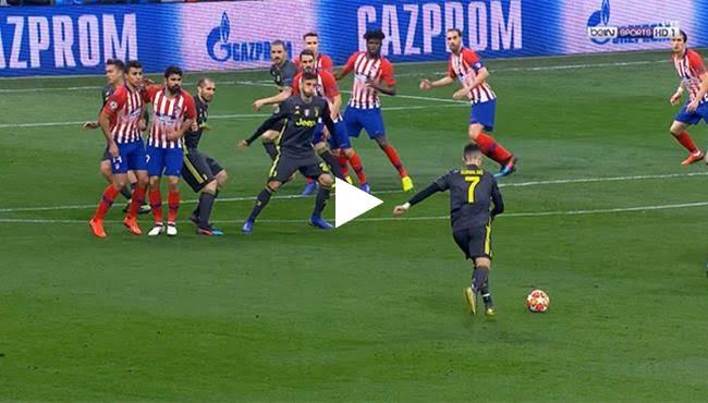 تصدي مذهل من اوبلاك امام صاروخية رونالدو في مباراة أتلتيكو مدريد ضد يوفنتوس