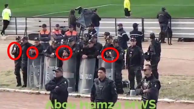 في بلادي ظلموني .. جماهير الرجاء تغني وشرطة تونس تصور (فيديو)