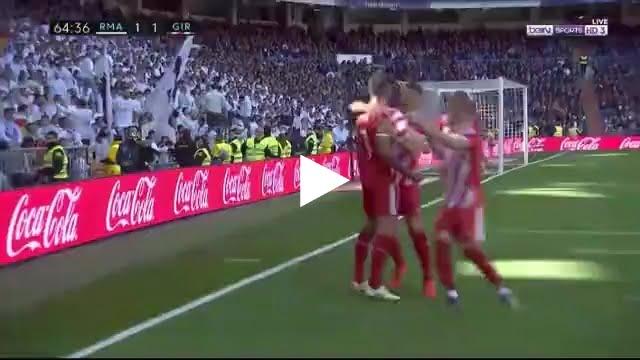فيديو: هدف جيرونا الأول في مرمى ريال مدريد