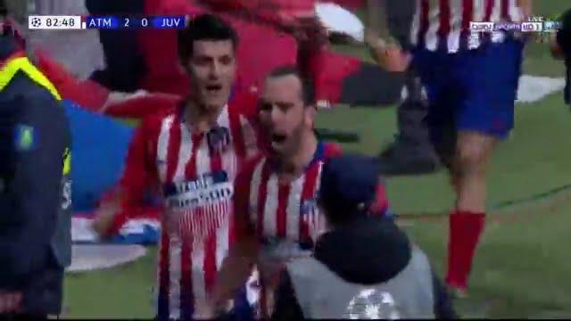 هدف اتلتيكو مدريد الثاني في مرمي يوفنتوس بدوري ابطال اوروبا