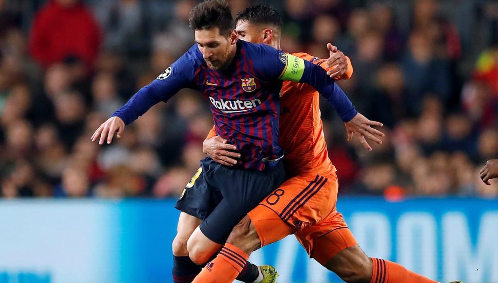 مهرجان أهداف لبرشلونة يقصي ليون من دوري الأبطال