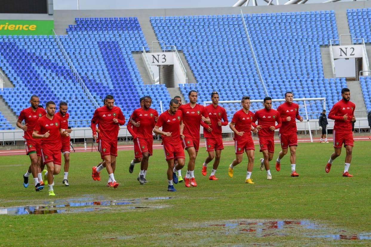 المغرب ضد مالاوي: حصة تدريبية رسمية للأسود بالملعب الوطني بينغو